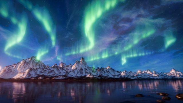 Kilatan cahya Aurora yang akan membuatmu jatuh cinta. #AyoKeUK