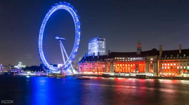 London Eye in Winter, London, England