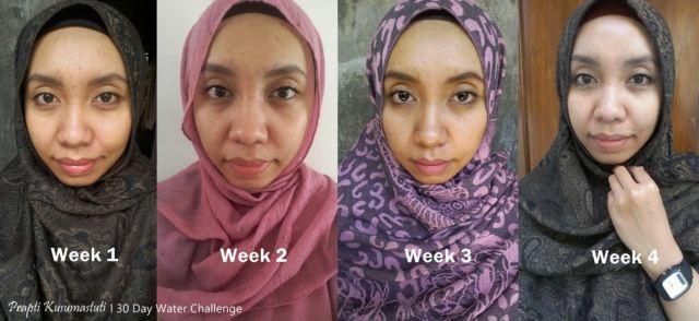 Perubahan kulit wajah dari minggu ke minggu