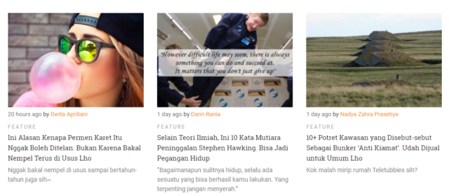 News & Feature category