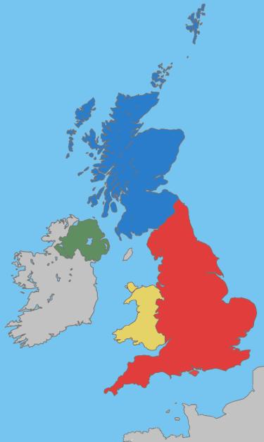 nih, peta Britania Raya