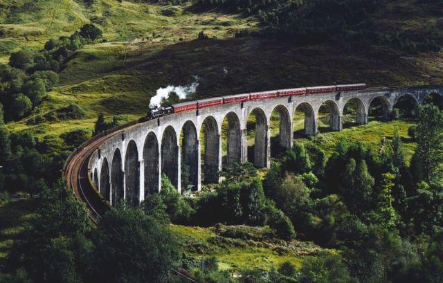 Glen Finnan Viaduct, Skotlandia