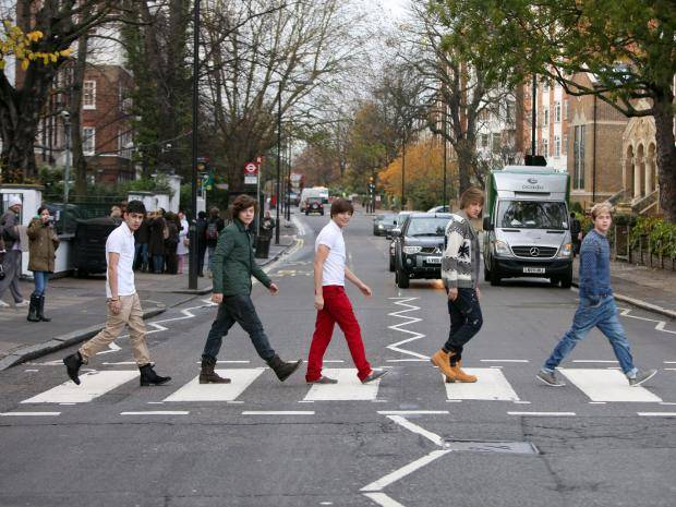 one direction at abbey road studios