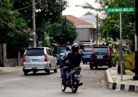 Jalan Nyimas Melati di Tangerang