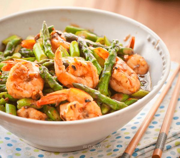 shrimp & asparagus