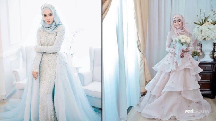 15 Variasi Gaun Pengantin Internasional Hijab Yang Sopan Tampil