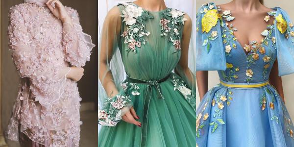 10 Inspirasi 3d Applique Yang Memukau Untuk Gaun Pesta Kekinian Itu