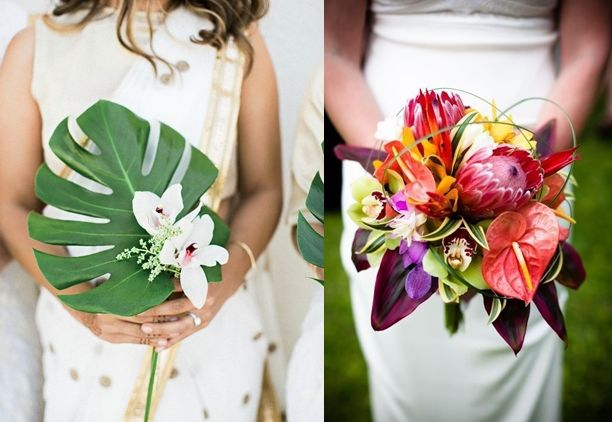 8 Ide Buket Bunga Pernikahan Bernuansa Tropis Segar Natural Pas