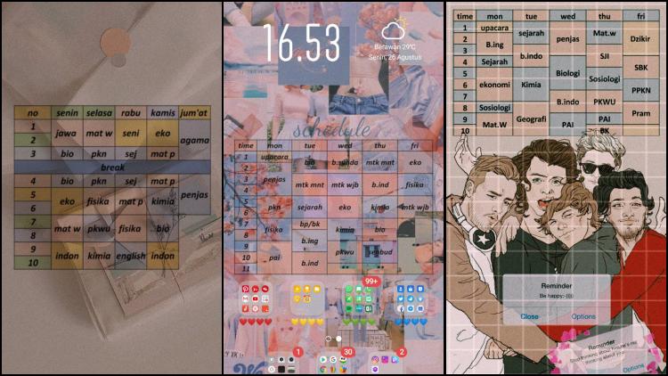 Tutorial Membuat Wallpaper Hp Estetik Berisi Jadwal Pelajaran